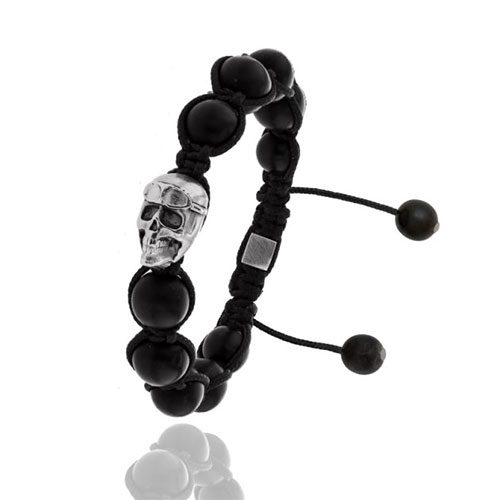 Albanu | Bracelet skull en perles de buffle de la collection Savane.